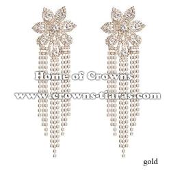 Large Long Crystal Rhinestone Fashion Earrings