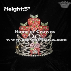 5in Crystal Strawberry Pageant Princess Crowns