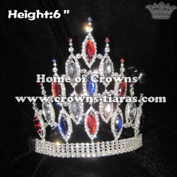 Red White Blue Diamond Pageant Crowns-4th Of July