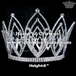 Wholesale Rhinestone Full Round Queen Crowns