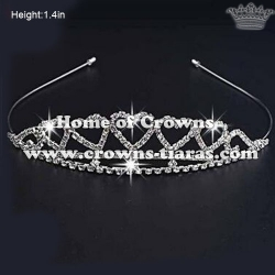 Rhinestone Heart Shaped Baby Tiaras