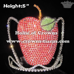 5inch Unique Apple Crystal Crowns