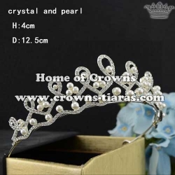 Crystal Wedding Tiaras With Pearls