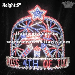 4th Of July Pageant Crowns With Fireworks