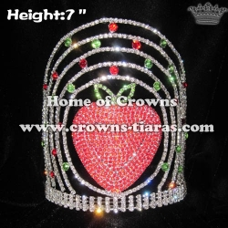 Strawberry Rhinestone Pageant Crowns