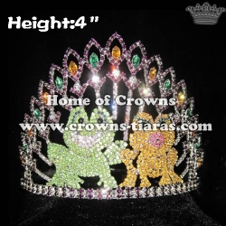 Unique Crystal Frog Pageant Crowns