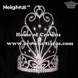 8in Height Wholesale Crystal Rhinestone Mask Crowns