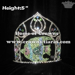 5inch Fish Crystal Rhinestone Pageant Crowns