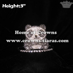 3in Height Lovely Cute Crystal Panda Crowns