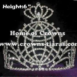 Peace Earth Crystal Rhinestone Crowns
