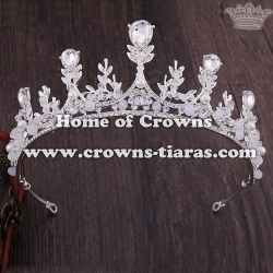 Bridal Tiaras With Handmade Beads