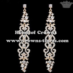 High Quality Crystal Wedding Queen Earrings