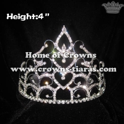 4inch Crystal Rhinestone Crowns