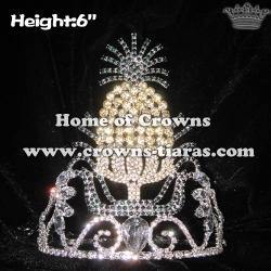 Wholesale Unique Pineapple Crystal Crowns
