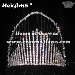 5inch Rainbow Crystal Rhinestone Crowns