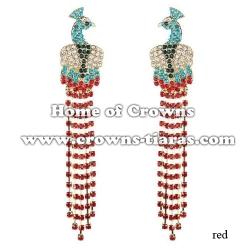 Crystal Rhinestone Peacock Earrings