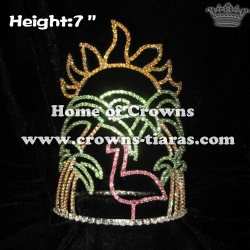 7inch Lovely Crystal Flamingo Crowns