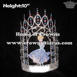 Crystal Snowflake Pageant Queen Crowns
