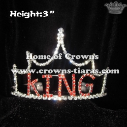 Crystal Boy Crowns and Tiaras With KING Letters
