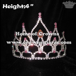 4inch Hot Selling Rhinestone Pageant Crowns