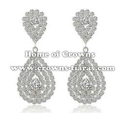 Wholesale Crystal Rhinestone Party Queen Earrings