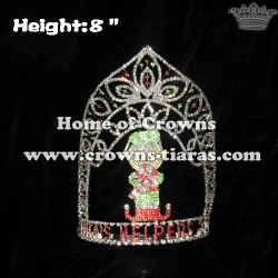 Crystal Santa Helper Christmas Pageant Crowns