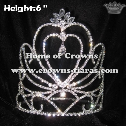 Hot Selling Heart Shaped Crystal Pageant Crowns