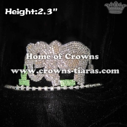 Cute Elephant Rhinestone Animal Crowns
