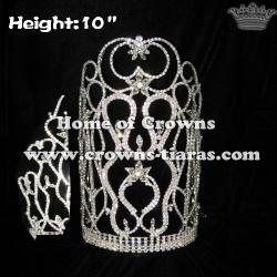 10in Height Crystal Rhinestone Wholesale Crowns