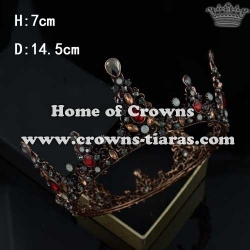 Wholesale Unique Full Round Crowns With Colored Diamonds