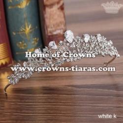 Luxury Crystal Wedding Party Tiaras With Zircon Diamonds