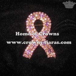 Crystal Ribbon Pageant Sash pins