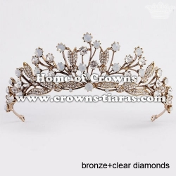 Classic Baroque Wedding Tiaras With Pink Crystal