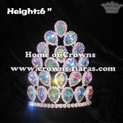 Crystal Pageant Crowns With AB Diamonds