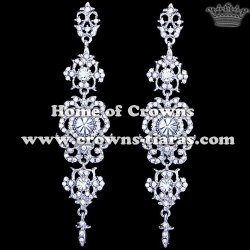 Alloy Crystal Wedding Queen Earrings
