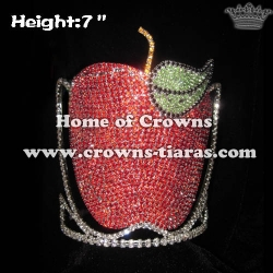 7in Apple Shaped Crystal Pageant Crowns
