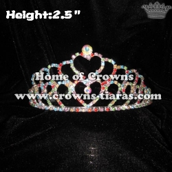 Colorful Heart Pageant Crowns