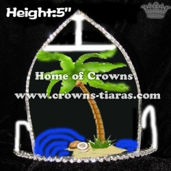 5inch Height Plam Tree Pageant Crowns