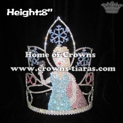 Elsa Cute Lovely Pageant Crowns With Snowflake Shaped