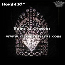 Wholesale Custom Rhinestone Peacock Pageant Crowns