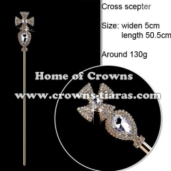 Diamond Pageant Scepter |In Silver Plated