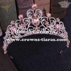 Beauty Luxury Crystal Wedding Tiaras With Colored Diamonds