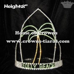 8in Simple Frame Plam Tree Pageant Crowns
