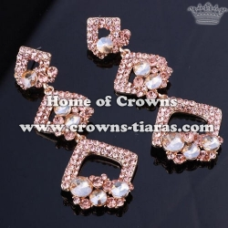 Alloy Crystal Queen Earrings With AB Diamonds