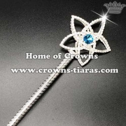 Rhinestone Star Scepter With Pink Diamonds