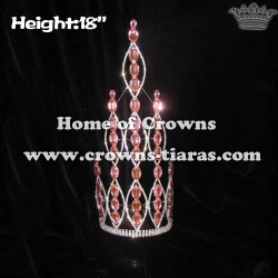 18in Pink Diamond Big Tall Pageant Crowns