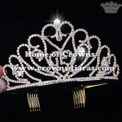Crystal Rhinestone Birthday Crown---Letter of 15 Can be Changed