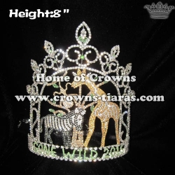 Wholesale Crystal Jungle Wild Zebra Pageant Crowns