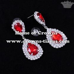 Crystal Rhinestone Wedding Red Diamond Earrings
