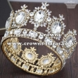 Wholesale Crystal Gold Queen Crowns With Red Diamonds--Small Size